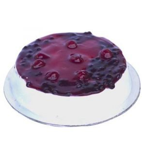 Round shaped blue berry cake