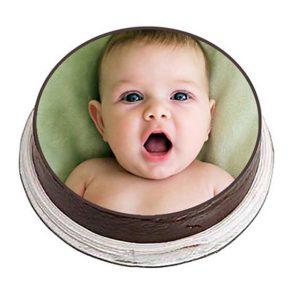 Round shaped black forest photo cake