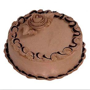 Round shaped cream chocolate cake