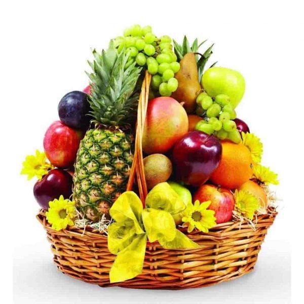 Basket of fresh fruits