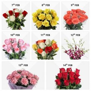 7 flower bouquet for valentines day